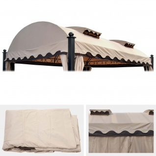 Ersatzbezug 440x340cm für Dach Pergola Pavillon Daroca 3, 5x4, 5m creme