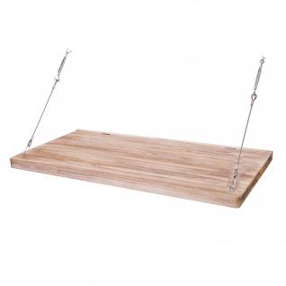 B-Ware Wandtisch HWC-H48, Wandklapptisch Wandregal Tisch mit Spiegel (ggfs defekt), klappbar Massiv-Holz ~ 100x50cm