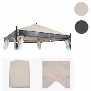 Bezug für Dach Pergola Pavillon HWC-A38, Ersatzbezug, 3, 5x3, 5m 250g/m² UV30+ ~ creme
