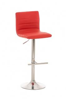 Barhocker CP030, Barstuhl, Kunstleder rot
