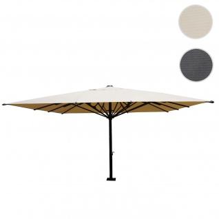 Gastronomie-Luxus-Sonnenschirm HWC-D20, XXL-Schirm Marktschirm, 5x5m (Ø7, 2m) Polyester/Alu 75kg ~ creme