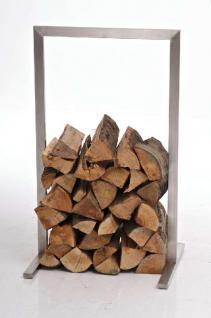 Kaminholzständer CP326, Feuerholzregal 80x100 ~ silber
