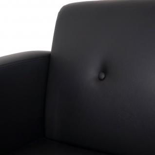 3-1-1 Sofagarnitur HWC-C19, Modular-Sofa Loungesofa, erweiterbar Kunstleder schwarz - Vorschau 3