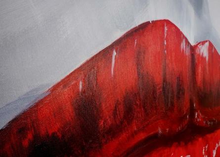 Ölgemälde Lippen, 100% handgemaltes Wandbild Gemälde XL, 120x85cm - Vorschau 4