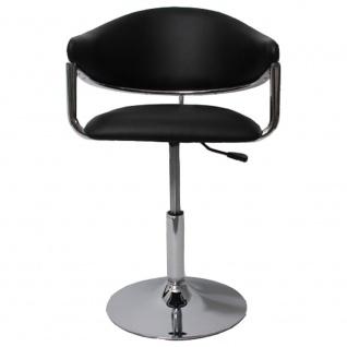 Barhocker Dema, Barstuhl Tresenhocker Lounge Stuhl, Kunstleder ~ schwarz