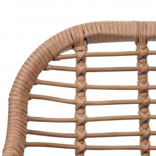 Poly-Rattan Garnitur HWC-G17, Balkon-Set Gartengarnitur Sitzgarnitur Sitzgruppe Stuhl ~ naturfarben, Kissen creme - Vorschau 5