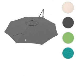 Bezug für Ampelschirm HWC-A39, Sonnenschirmbezug Ersatzbezug, Ø 3, 5m Polyester 250g/m² ~ anthrazit
