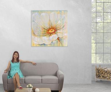 Ölgemälde Weiße Blume, 100% handgemalt, 100x100cm - Vorschau 5