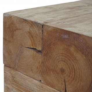 Couchtisch HWC-A15c, Wohnzimmertisch, Tanne Holz rustikal massiv 30x60x60cm - Vorschau 2