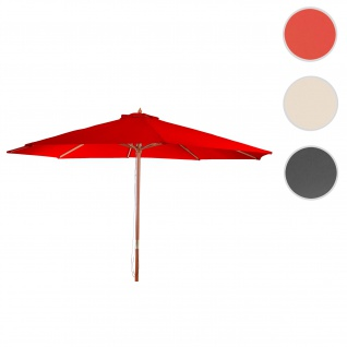 Sonnenschirm Florida, Gartenschirm Marktschirm, Ø 3, 5m Polyester/Holz 7kg ~ bordeaux