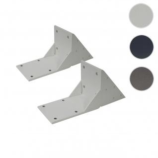 2x Dachsparrenadapter für Kassetten-Markise T122 T123, Dachsparren Halterung Adapter ~ weiß