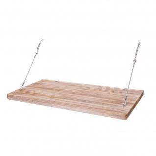 B-Ware Wandtisch HWC-H48, Wandklapptisch Wandregal Tisch mit Spiegel (ggfs defekt), klappbar Massiv-Holz ~ 120x60cm