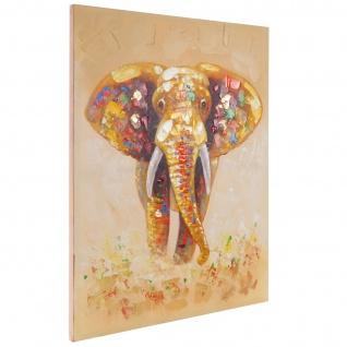 Ölgemälde Elefant, 100% handgemalt, 100x80cm - Vorschau 4