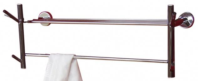 Wandgarderobe H62, Handtuchhalter Garderobe, 25x69x24cm