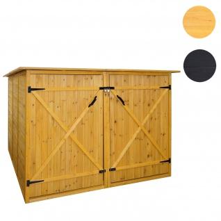 2er-Fahrradgarage HWC-H60, Fahrradbox Geräteschuppen Gerätehaus, abschließbar 151x200x200cm ~ braun