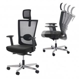Bürostuhl MERRYFAIR Forte, Schreibtischstuhl, Sliding-Funktion ergonomisch ~ schwarz, mit Kopfstütze