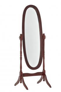 Standspiegel CP352, Ankleidespiegel Spiegel, Holz kirschfarben