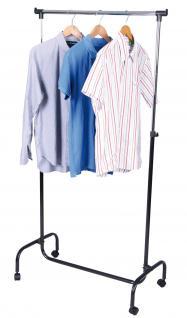 Garderobenständer LD31, Kleiderständer Garderobe, höhenverstellbar,