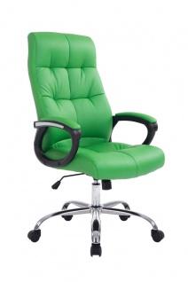 Bürostuhl CP608, Schreibtischstuhl Chefsessel Drehstuhl, 160kg belastbar, Kunstleder grün