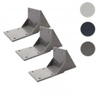 3x Dachsparrenadapter für Kassetten-Markise T124, Dachsparren Halterung Adapter ~ grau