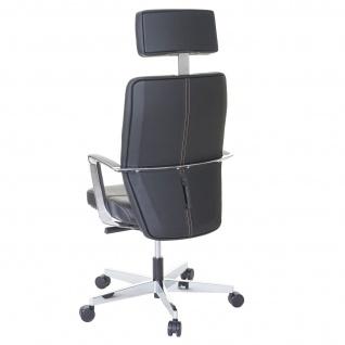 Bürostuhl MERRYFAIR Luton, Schreibtischstuhl, Sliding-Funktion Leder ISO9001 130kg belastbar - Vorschau 3