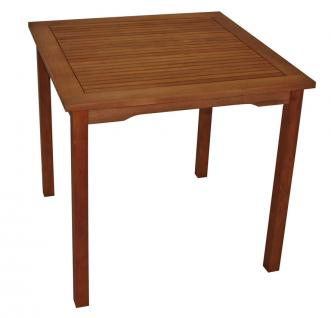 Gartentisch FG46, Holztisch, Eukalyptusholz, 75x80x80cm