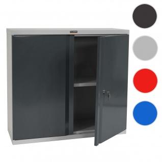 Aktenschrank Valberg T330, Metallschrank, 2 Türen 84x92x37cm ~ anthrazit