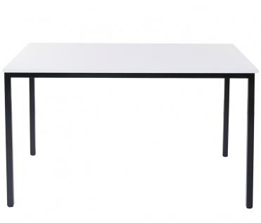 Schreibtisch Braila, Konferenztisch Bürotisch Seminartisch, 120x80cm MDF ~ weiß - Vorschau 3