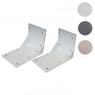 2x Deckenadapter für Kassetten-Markise T122 T123, Deckenmontage Halterung Adapter ~ weiß
