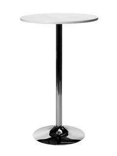Stehtisch CP338, Gartentisch, 105cm ~ weiß