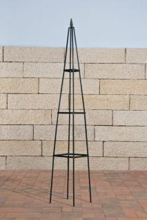 """Rosensäule Rankgitter """" Pyramide"""", Metall grün"""