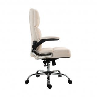 Bürostuhl HWC-J21, Chefsessel Drehstuhl Schreibtischstuhl, höhenverstellbar ~ Stoff/Textil creme-beige - Vorschau 5
