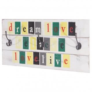 Wandgarderobe Love-Life, Shabby-Look Vintage 30x60cm - Vorschau 1