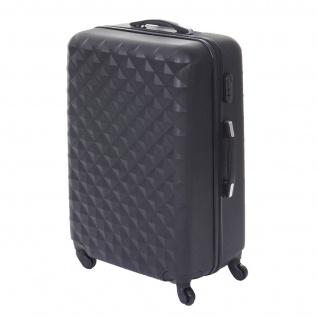 Koffer HWC-D54, Reisekoffer Hartschalenkoffer Trolley, 60x42x26cm 64l - Vorschau 4