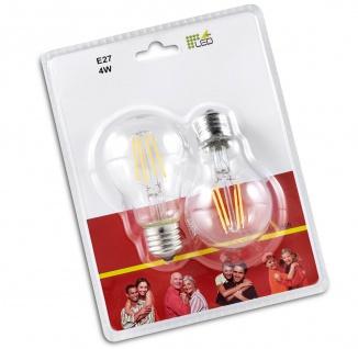 Trio LED-Leuchtmittel RL187, Filament Glühbirne Leuchte, E27 4W warmweiß EEK A++ - Vorschau 4