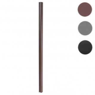 Alu-Pfosten Sarthe-WPC-Zaun, Pfeiler Pfahl, Stecksystem 1, 86m ~ braun