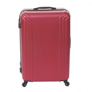 3er Set Koffer HWC-D54a, Reisekoffer Hartschalenkoffer Trolley Handgepäck, Höhe 72/60/50cm - Vorschau 4