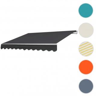 Alu-Markise HWC-E49, Gelenkarmmarkise Sonnenschutz 2, 5x2m ~ Polyester anthrazit