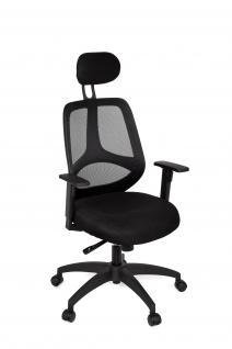 Bürostuhl A064, Chefsessel Drehstuhl, Textil, Lendenwirbelstütze, 5-Punkt Synchronmechanik