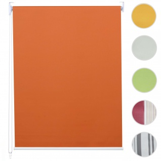 Rollo HWC-D52, Fensterrollo Seitenzugrollo Jalousie, Sonnenschutz Verdunkelung blickdicht 60x230cm ~ orange