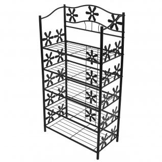 Regal Metall Bücherregal Schuhregal Genf ~ 5 Böden, Höhe 112cm