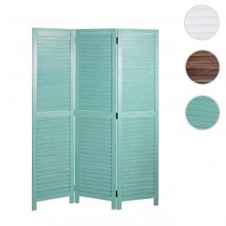 Paravent HWC-C30, Raumteiler Trennwand Sichtschutz, Shabby-Look Vintage, 170x120cm ~ grün