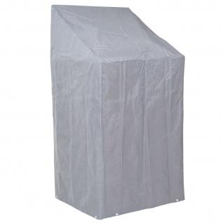 Abdeckplane Abdeckhaube Schutzplane Schutzhülle für Stühle, grau 150/110x70x70cm