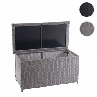 Poly-Rattan Kissenbox HWC-D88, Gartentruhe Auflagenbox Truhe ~ Basic grau, 51x100x50cm 170l