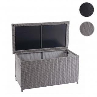 Poly-Rattan Kissenbox HWC-D88, Gartentruhe Auflagenbox Truhe ~ Basic grau, 51x115x59cm 250l
