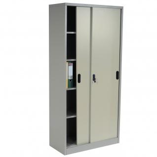 Aktenschrank Boston T131, Metallschrank Büroschrank Stahlschrank, 43kg 180x85x40cm creme