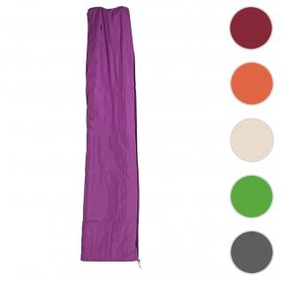 Schutzhülle HWC für Ampelschirm bis 4, 3 m (3x3 m), Abdeckhülle Cover mit Reißverschluss ~ lila-violett