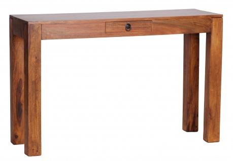 Beistelltisch Malatya, Konsolentisch Wohnzimmertisch, Sheesham Massivholz, 120x70x40cm