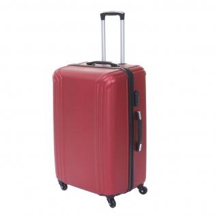 3er Set Koffer HWC-D54a, Reisekoffer Hartschalenkoffer Trolley Handgepäck, Höhe 72/60/50cm - Vorschau 3