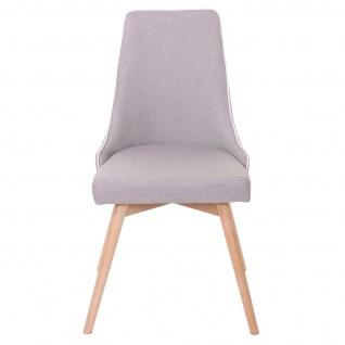 6x Esszimmerstuhl HWC-B44, Stuhl Küchenstuhl, Retro 50er Jahre Design Stoff/Textil grau - Vorschau 3